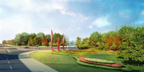 盛泽快速干线入城口雕塑设计公示